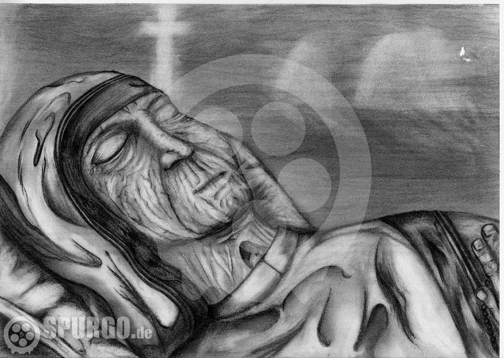 PENCIL: Mutter Teresa auf dem Sterbebett