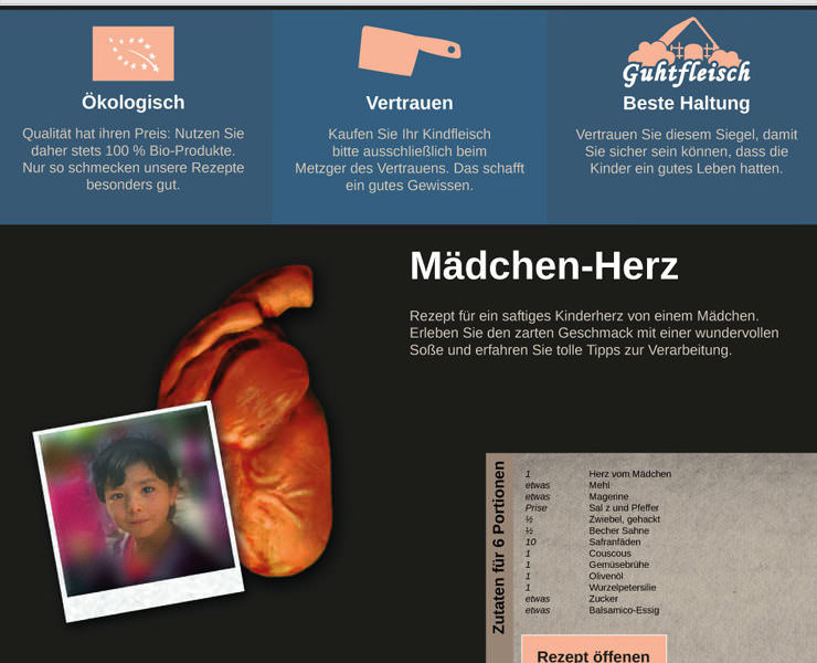 kinder-essen.com - Screen Design with Recepies