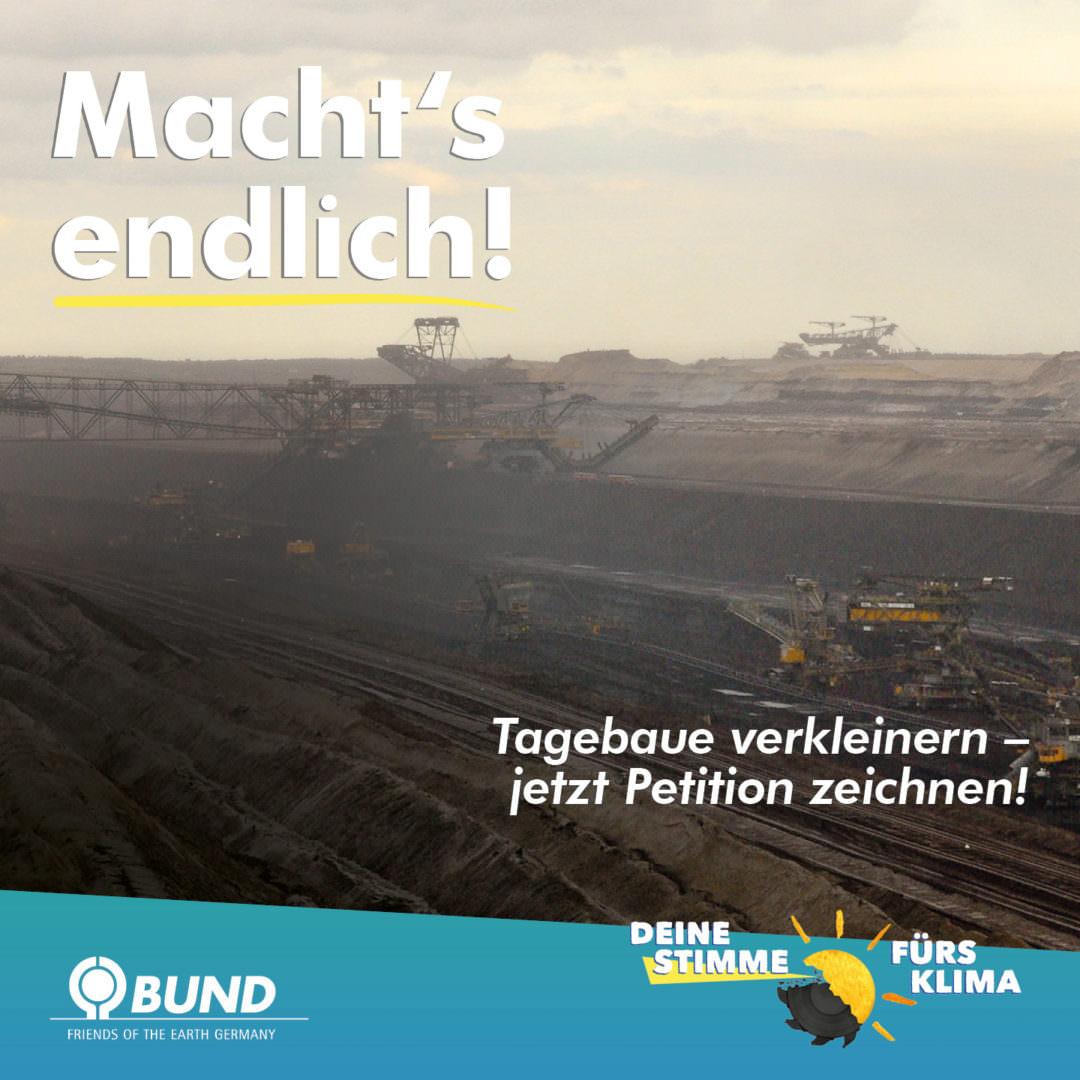 Shareables for BUND Sachsen e.V. - Petition und Video gegen weiteren Kohleabbau