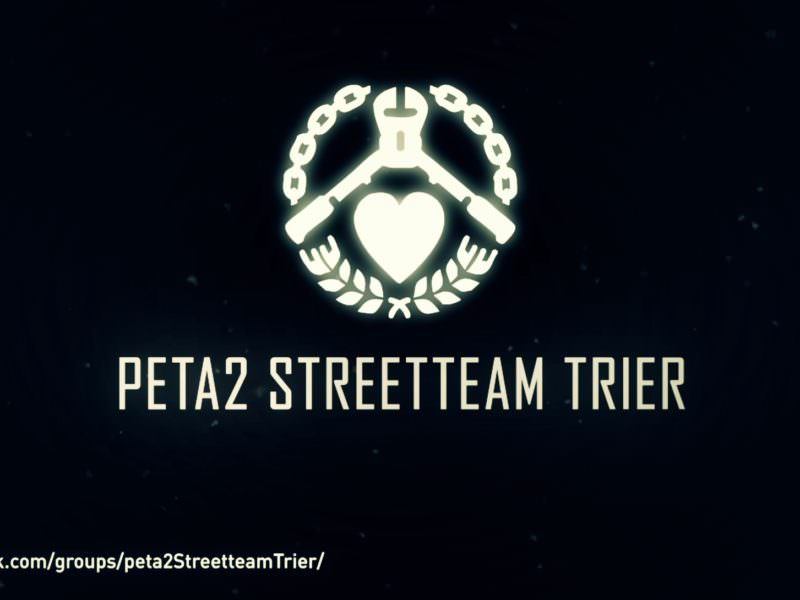 Done for the peta2 Streetteam in Trier