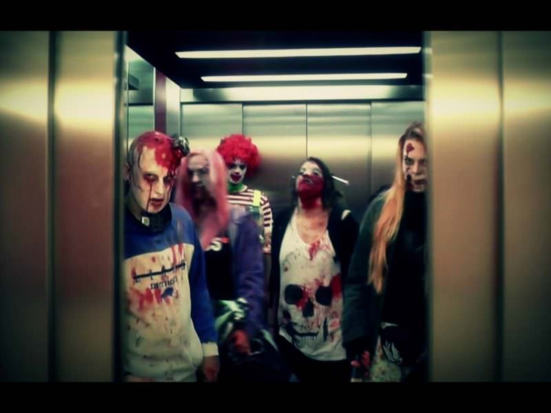 Elevator opens up and let's the zombies in